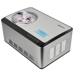 MEDION® IJsmachine MD 18883 | capaciteit voor 2 L ijs (vulhoeveelheid: 1,2 L) | zelfkoelend met compressor | LC-display & sensor-touch bedieningspaneel