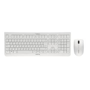 CHERRY DW 3000 Tastatur + Maus Set, kabellose & flüsterleise Tastatur, kabellose 3-Tasten Maus  für Links- und Rechtshänder, Plug & Play über Nano-USB-Empfänger