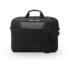 EVERKI Advance Laptoptasche für Geräte bis 18,4, Schulterpolster, Trolleylasche, Selbstheilende Reißverschlüsse, geräumig (schwarz)
