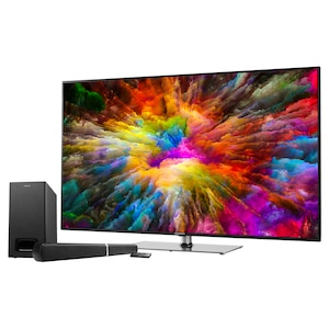 "MEDION® LIFE® S15512 Smart TV, 138,8 cm (55"") LED-Backlight, UHD Display, HDR, HD Triple Tuner, Bluetooth®, PVR, Netflix, HbbTV, CI+, inkl. 2.1 TV Soundbar E64126"