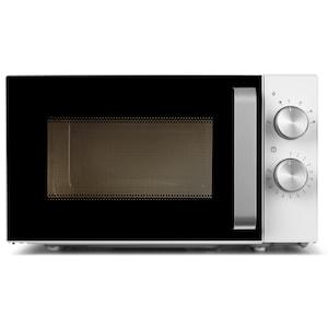 MEDION® Kompakt Mikrowelle mit Grill (MD 18071), 800 Watt Leistung, 20 L Kapazität, 6 Leistungsstufen, Auftaufunktion, weiß