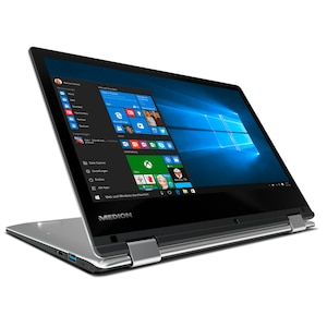 MEDION® AKOYA® E2228T, Intel® Atom® x5-Z8350, Windows 10 Home, 29,5 cm (11,6) FHD Touch-Display, 32 GB Flash, 2 GB RAM, Convertible  (B-Ware)