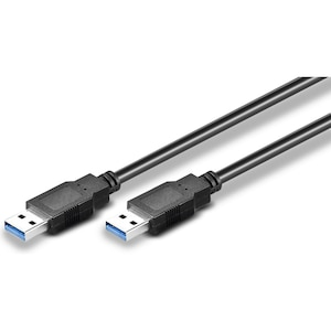 WENTRONIC USB 3.0 SuperSpeed Kabel, USB 3.0 Stecker (Typ A) > USB 3.0 Stecker (Typ A), 3 m Länge