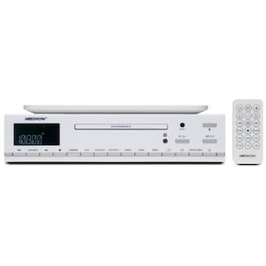 MEDION® LIFE® E66281 CD-Küchenunterbauradio, PLL UKW-Stereo Radio, Uhrzeitanzeige, Koch-Timer, LC-Display mit blauer Hintergrundbeleuchtung