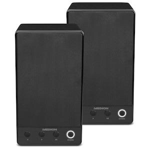 MEDION®  Sparpaket - 2 x MEDION® LIFE® P61084 WLAN Multiroom Lautsprecher, WLAN zur Einbindung ins Heimnetz, DLNA, USB, AUX-In, Steuerung