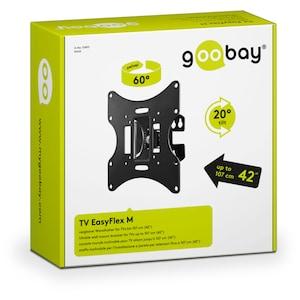 GOOBAY EasyFlex M TV-Wandhalterung, für Geräte von 17'' bis 42'' (43-107cm), neig- & schwenkbar, VESA max. 200x200mm, Traglast 30kg
