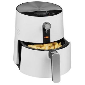 MEDION® Heißluftfritteuse MD 17769, ölfreies Frittieren, 1300 Watt, Temperaturkontrolle bis 200°C, Cool-Touch-Griff