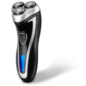 MEDION® Herren-Rasierer (MD 16623), für die Nass- und Trockenrasur, 3-Kopf-Rotation, Schnellladefunktion, Edelstahlmessern, Netz- und Akkubetrieb