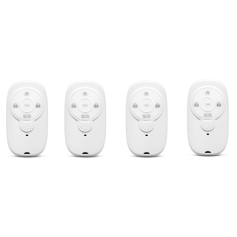 MEDION® Smart Home Sparpaket - 4 x Fernbedienung Alarmsystem P85713, Smart Home, Steuerung des Alarmsystems, SOS-Taste, Tastensperrfunktion