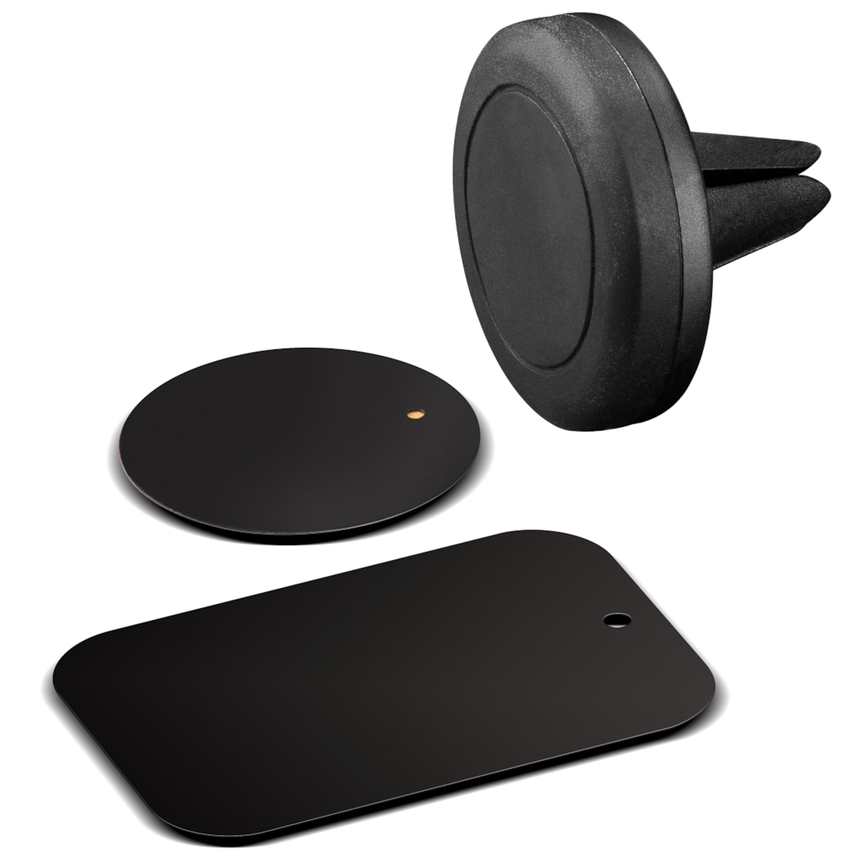 WENTRONIC Universal Magnethalterungs-Set, Zur einfachen und sicheren Befestigung im Fahrzeug, Für fast jedes Smartphone und Phablet geeignet