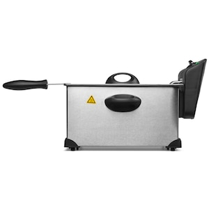 MEDION® Edelstahl Fritteuse MD 18084, 2.000 Watt, hochwertiges Edelstahlgehäuse, Temperatureinstellung bis 190 °C, 3L Ölbehälter