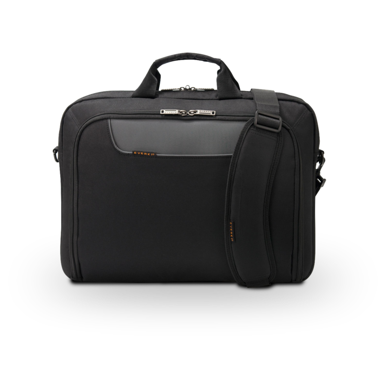 EVERKI Advance Laptoptasche für Geräte bis 14,1, Schulterpolster, Trolleylasche, Selbstheilende Reißverschlüsse, geräumig