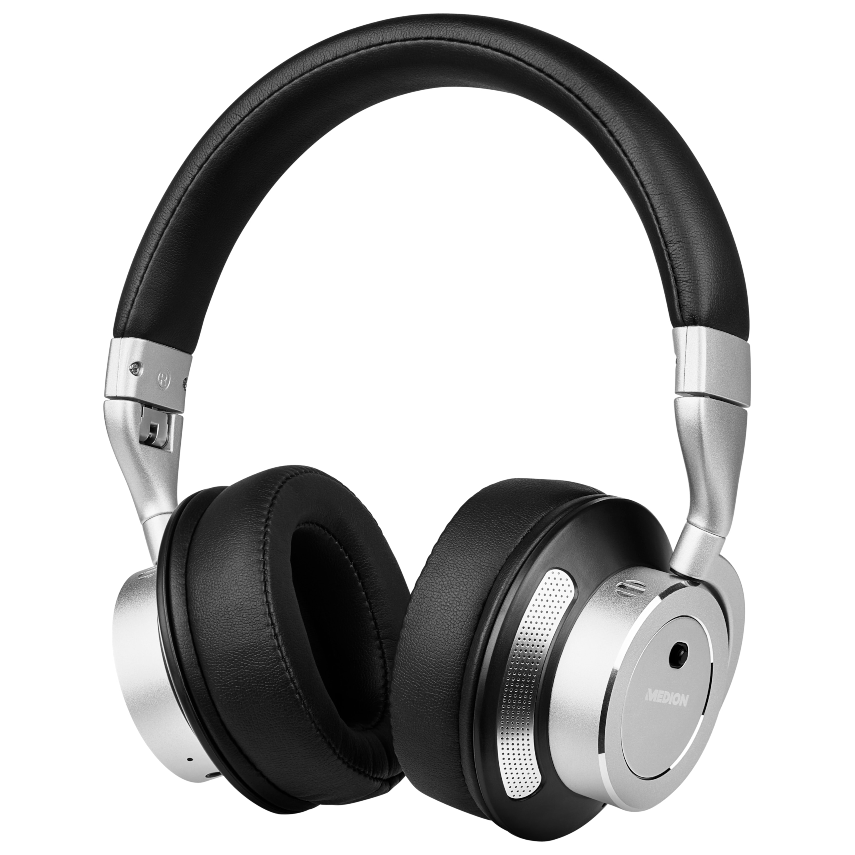 MEDION® LIFE® P62049 Bluetooth® Kopfhörer mit aktiver Geräuschunterdrückung, bis 16 Stunden Akkulaufzeit, Freisprechfunktion, Bluetooth® 4.0