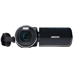 "MEDION® Design Full HD Camcorder mit Touchscreen LIFE® X47023, 7,6 cm / 3.0"" Touchscreen Display, 23-fach optischer Zoom, 120-fach digitaler Zoom, Full HD Videoauflösung 1080p, 5.0 Megapixel CMOS Sensor, Upload-Funktion zu YouTube"