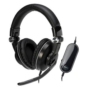 MEDION® X83051 USB Headset mit integrierter Soundkarte, 5.1 Surround Klang, Integriertes Mikrofon mit Rauschunterdrückung