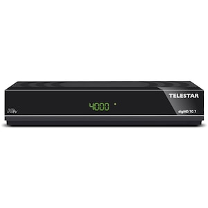 TELESTAR digiHD TC 7 Kabel-Receiver, DVB-C HD, HDMI, USB, PVR, Scart, Ehernet, Display, schwarz