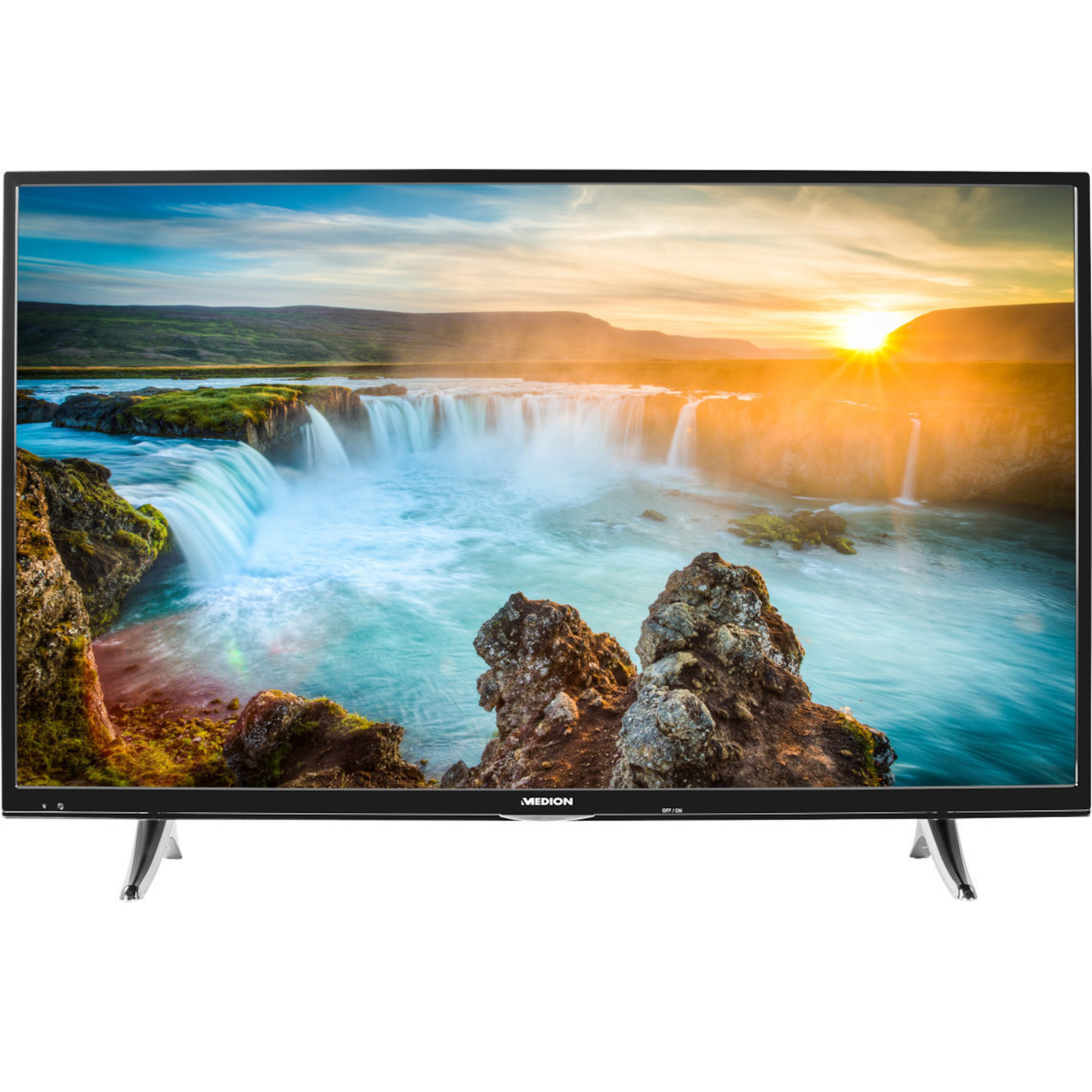 MEDION® LIFE® X17034 TV, 123,2 cm (49) Ultra HD Smart-TV, LED-Backlight, HD Triple Tuner, WLAN, PVR ready, 1200 MPI
