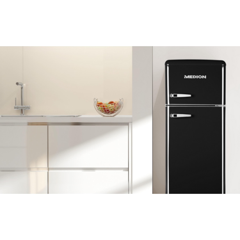 Medion Retro Kühlschrank : Medion kühl gefrierkombination md retro design l