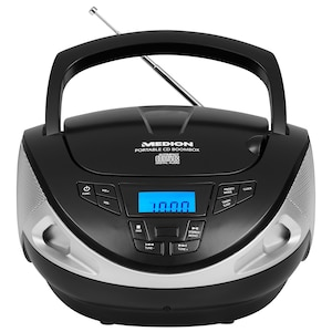 MEDION® LIFE® CD Radio Boombox E65157, Radio-/CD-/Wiedergabe, LC-Display, 2 x 10 Watt (2 x 1 W RMS) (B-Ware)