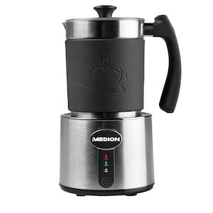 MEDION® Milchaufschäumer MD 18286, Milch aufschäumen und erhitzen in Einem, bis zu 230 ml Fassungsvermögen, 550W Leistung