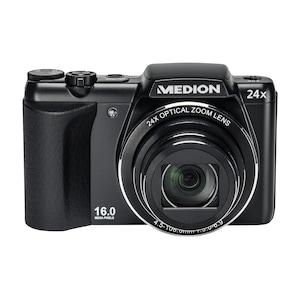 MEDION® LIFE® P44024 Digitalkamera, 16 Megapixel, 7,62 cm / 3,0, 24-fach optischer Zoom, HD Videoauflösung 720p, Ausklappbarer Blitz