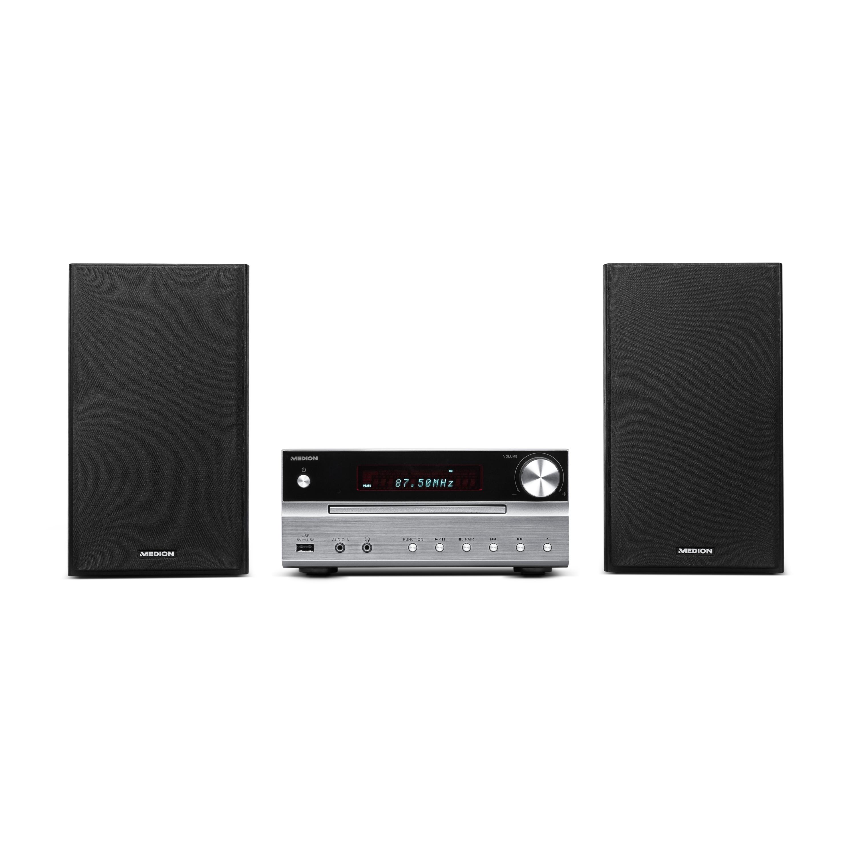 MEDION® LIFE® P66063 Mikro-Audio-System, Bluetooth 4.0, PLL-UKW Stereo Radio, 2 x 15 W RMS, X-Bass-Bassanhebung (B-Ware)