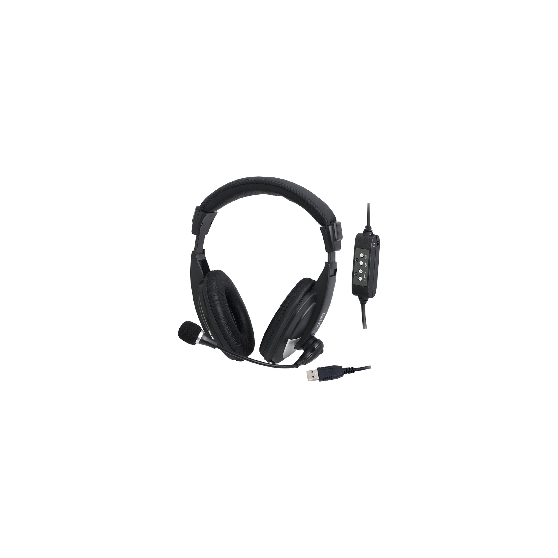 LOGILINK USB Stereo Headset High Quality, Intregrierte Fernbedienung, 3,5 mm Kopfhörer Ausgang