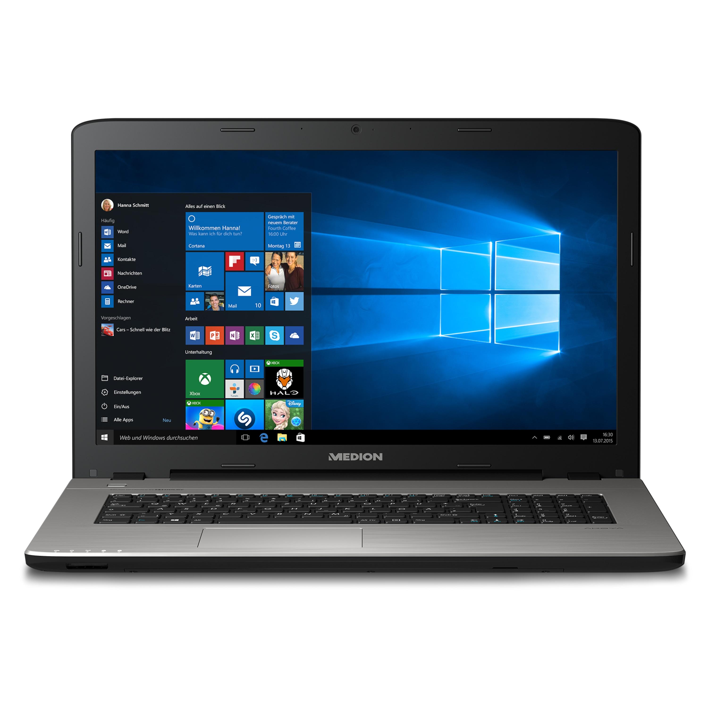 MEDION® AKOYA® E7424, Intel® Core™ i3-7100U, Windows10Home, 43,9 cm (17,3) FHD Display, 128 GB SSD, 1.5 TB HDD, 4 GB RAM, Notebook  (B-Ware)