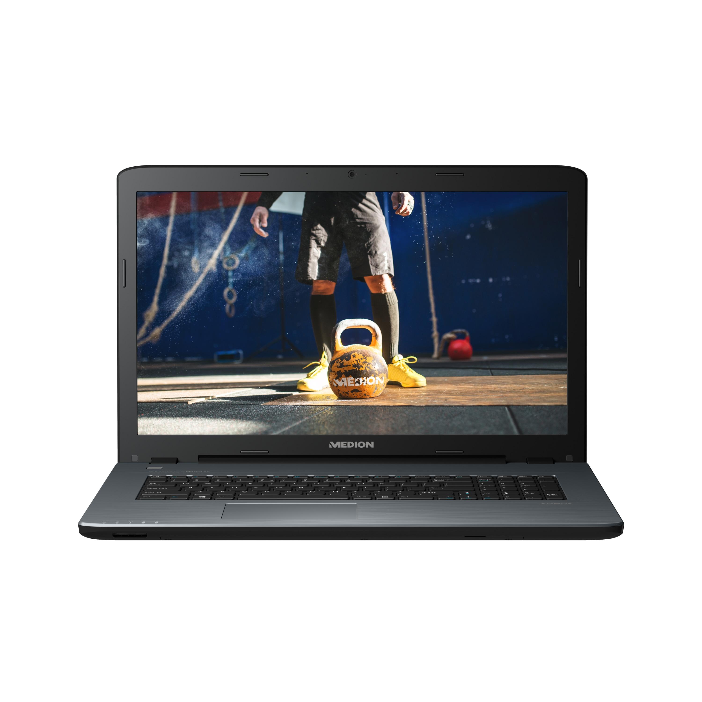 MEDION® AKOYA® P7649, Intel® Core™ i7-8550U, Windows 10 Home, 43,9 cm (17,3) FHD Display, 940MX, 128 GB SSD, 1,5 TB HDD, 8 GB RAM, Multimedia Notebook