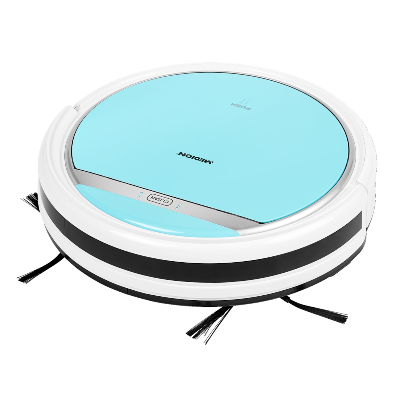 MEDION® Saugroboter MD 18500, vollautomatische Reinigung, bis zu 90 Min Laufzeit, selbstständige Ladefunktion, für eine Vielzahl von Böden
