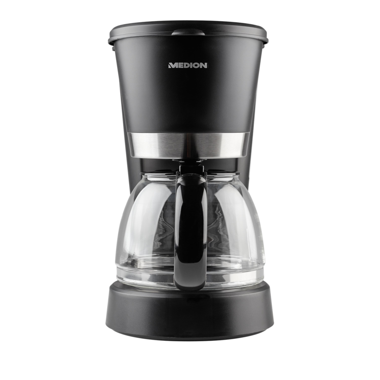 MEDION® Kaffeemaschine MD 17024, 900 Watt Leistung, 8 Tassen Kapazität, Permanentfilter, Warmhaltefunktion