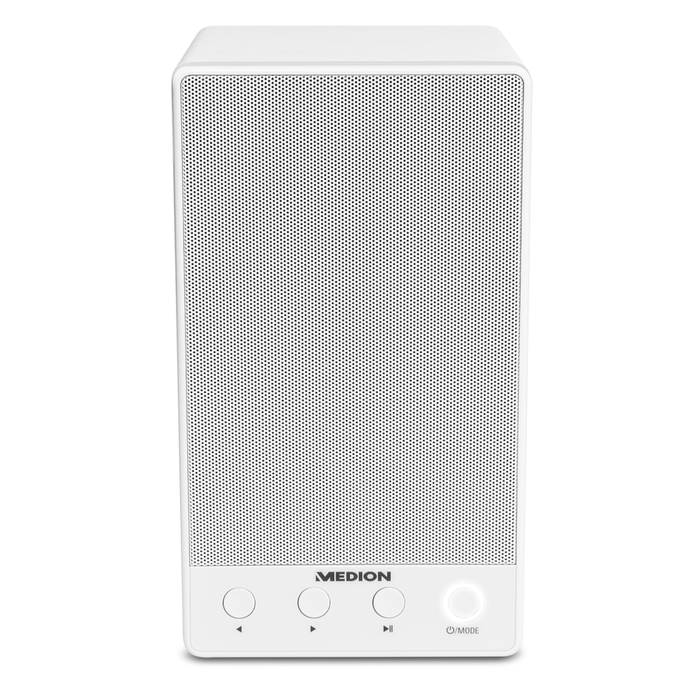 MEDION® LIFE P61084 WLAN Multiroom Lautsprecher, WLAN zur Einbindung ins Heimnetz, DLNA, USB, AUX, Steuerung über App