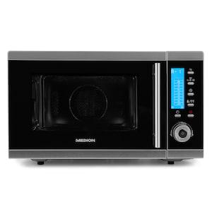 MEDION® 4in1 Mikrowelle MD 15501, Kombination aus Mikrowelle, Ofen und Doppelgrill, 10 Automatikprogramme