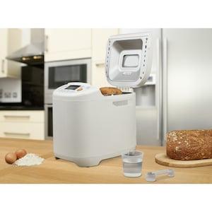 MEDION® Brotbackautomat MD 14752, 12 Backprogramme, 3 wählbare Bräunungsgrade, 2 Brotgrößen, 580 Watt, 700-1000g Fassungsvermögen