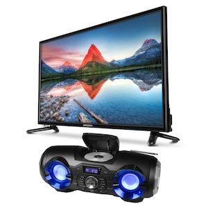 MEDION® LIFE® P14118 TV, 59,9 cm (23,6) LED-Backlight, Full HD, HD Triple Tuner, Mediaplayer, CI+ inkl. Partylautsprecher P65104
