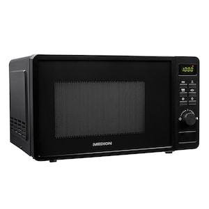 MEDION® Mikrowelle MD 18688, 700 Watt Leistung, 8 Automatikprogramme, 20 L Kapazität, Auftaufunktion
