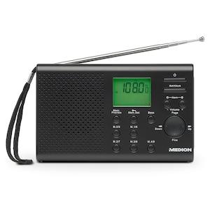 MEDION®  LIFE® E66311 Weltempfänger, 400 Senderspeicher, Alarmfunktion, 4 Weckprogramme