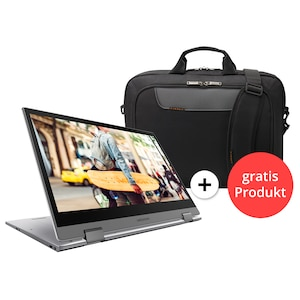 MEDION® AKOYA® E4271, Intel® Pentium® Silver N5000, Windows10Home, 35,5 cm (14) FHD Touch-Display, 128 GB SSD, 4 GB RAM, 360° Modus, Aluminium Design, Convertible + GRATIS Notebook Tasche