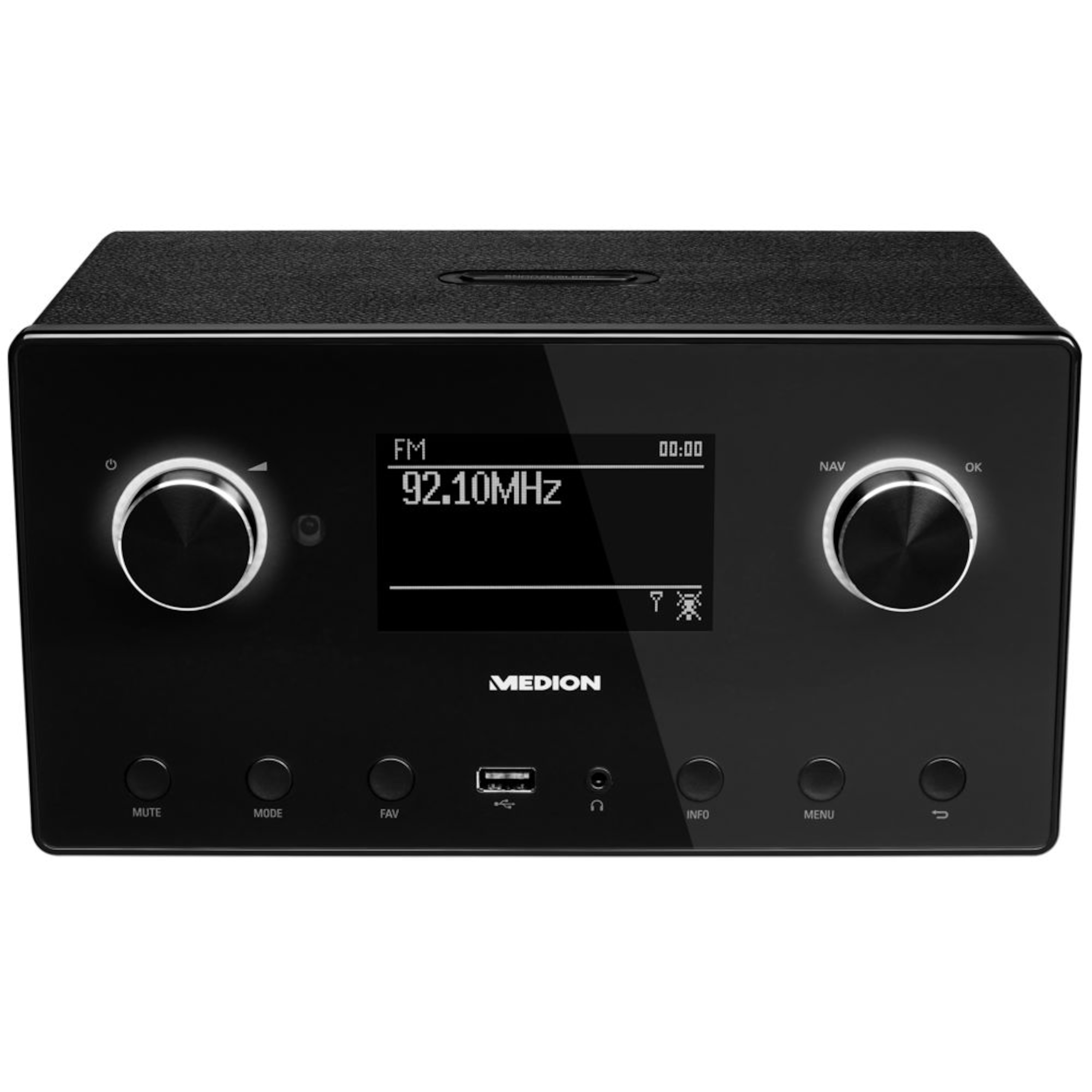 "MEDION® LIFE® P85080 WLAN Stereo Internetradio, 8,9 cm (3,5"") LC-Display, 15.000 Internet Radiosender, DAB+ Empfänger, Spotify® Connect, USB, Bluetooth®, 2 x 7,5 W RMS"