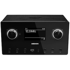 "MEDION® LIFE® P85080 WLAN Stereo Internetradio, 8,9 cm (3,5"") LC-Display, 15.000 Internet Radiosender, DAB+ Empfänger, Spotify® Connect, USB, Bluetooth®, 2 x 7,5 W RMS (B-Ware)"