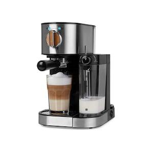MEDION® Espressomaschine MD 17116 mit 15 bar, integrierter Milchaufschäumer, 1.470 Watt, 1,2 l Wassertank