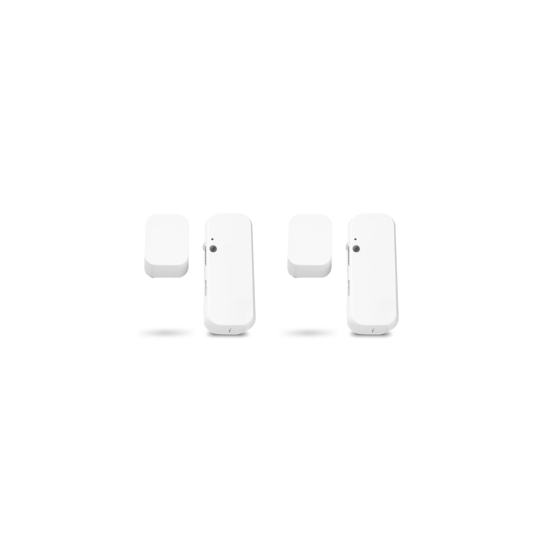 MEDION® Smart Home Sparpaket - 2 x Tür- und Fensterkontakt P85703, Smart Home, Erkennt geöffnete Türen, Fenster und Schränke, Löst Alarm aus, Steuerung per App