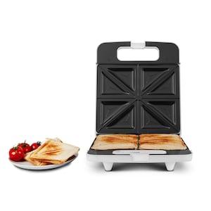 MEDION® Sandwichtoaster MD 18153, 1400 Watt Leistung, für bis zu 4 Sandwiches gleichzeitig, Antihaftbeschichtung, Temperaturkontrolle