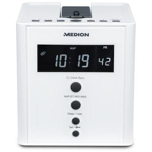 MEDION® LIFE® E66395 Projektions Uhrenradio, Projektion der Uhrzeit auf Wände oder Decken, PLL UKW Radio, 2 x 0,5 W RMS (B-Ware)