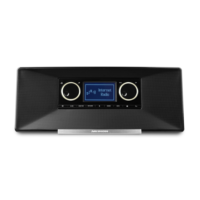 MEDION® LIFE® P85035, DAB + & FM/UKW -Radio-Tuner, LifeStream App, DLNA-/UPnP -Kompatibilität, Unterstützt Spotify (B-Ware)