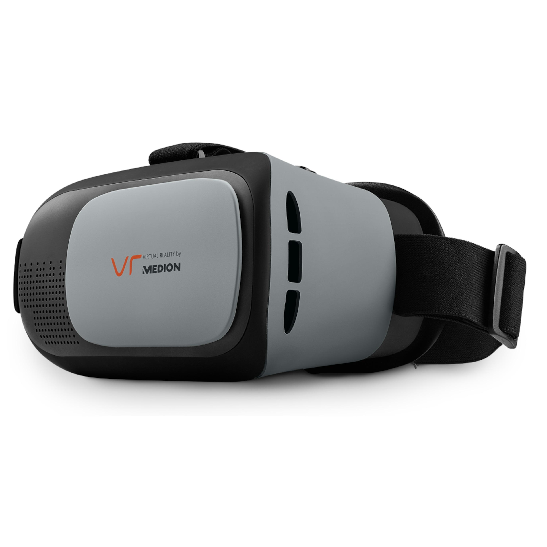 MEDION® X83008 Virtual Reality Headset, Geeignet für die meisten 4,0 bis 6,0 Smartphones, Flexibler Kopfgurt, Einstellbarer Fokus
