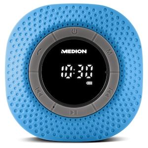 MEDION® LIFE® E66554, Duschradio mit Bluetooth-Funktion, Bluetooth 4.0, PLL UKW Radio, Freisprecheinrichtung, Saugnapf