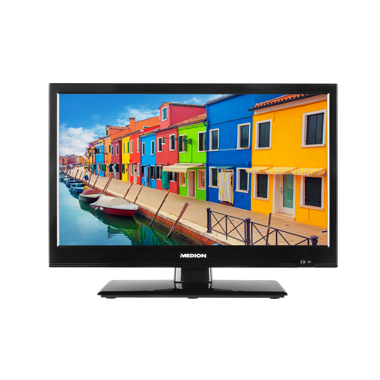 MEDION® LIFE® E11910 Fernseher, 47 cm (18,5'') LCD-TV, HD Triple Tuner, integrierter Mediaplayer, Car-Adapter, CI+