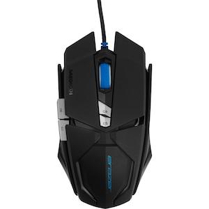 ERAZER® X81044 Kabelgebundene Gaming Maus, Laser Sensor, 7 OMRON Maustasten, beleuchtetes Scrollrad, bis zu 8000 dpi