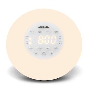 MEDION® PLL Uhrenradio P66080, UKW, AMS, Radio Data System, Nap Timer, Sonnenuntergang simulation